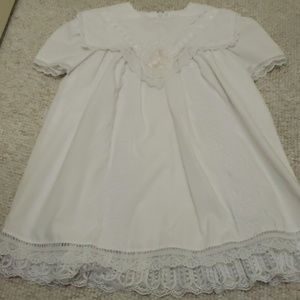 Lace antique white dress